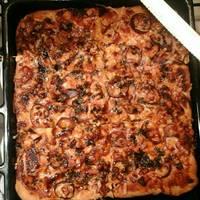 BBQ csirkés pizza