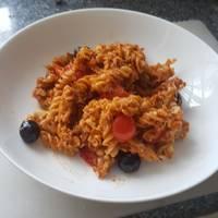 Pestós tonhalas tészta