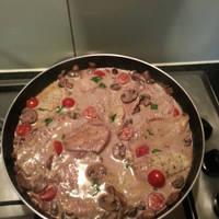 Tejszínes-gombás csirke recept marsalával
