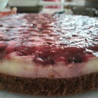 Meggyes-joghurtos torta