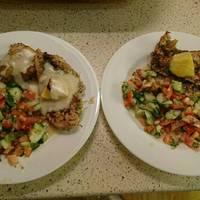 Citromos-zöldfűszeres sült csirkecomb