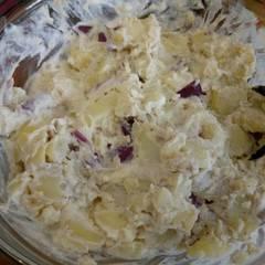 Fotós komment ehhez: Joghurtos, újhagymás krumplisaláta