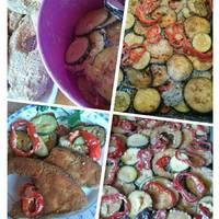Majonézzel sült grill zöldség
