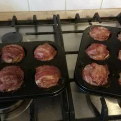 Fotós komment ehhez: Baconbe göngyölt fasírt főtt tojással töltve