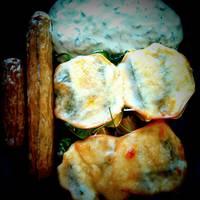 Spenótos-mozzarellás sült burgonya