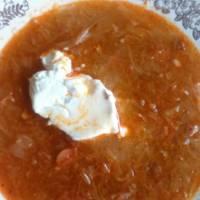 Korhelyleves recept (Soupe de choucroute)