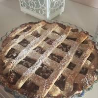 Rácsos almás pite