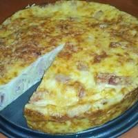 Sonkás-sajtos palacsintatorta