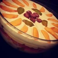 Gyümölcsös - Babapiskótás rakott süti