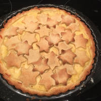 Almás-pudingos rácsos pite