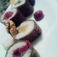 Édes palacsinta sushi