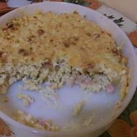 Sajtos-tejfölös tészta csőben sütve