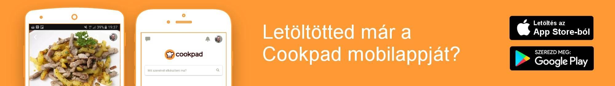 Cookpad mobilalkalmazás