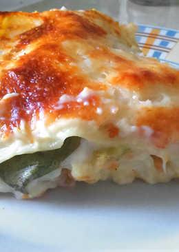 Tőkehalas karottás lasagne