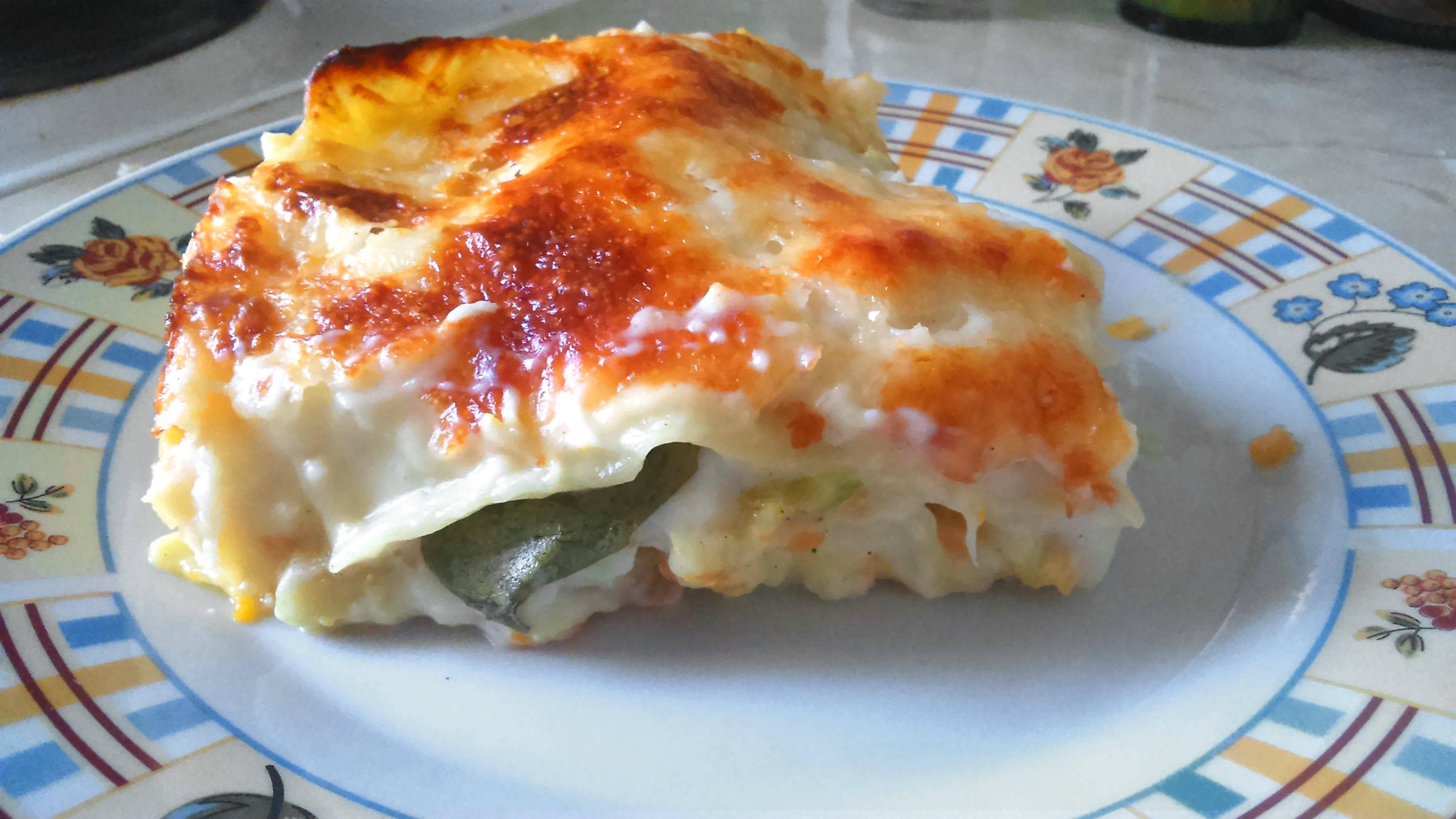 Tőkehalas karottás lasagne recept főfotó