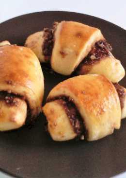 Almás-diós-csokis Croissant