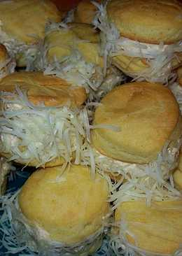 Medve sajtos szakállas pogácsa