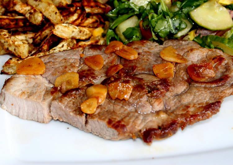 Fokhagymás bárány steak