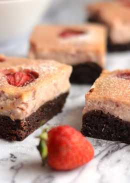 Epres sajtkrémes brownie