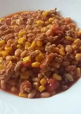 Egyszerű chilis bab