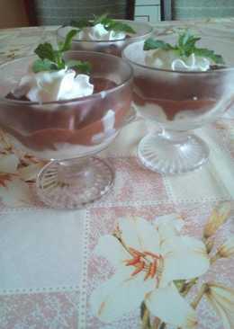 Tejfölös-nutellás pohárkrém