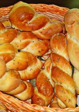 Húsvéti, házi, csavart, sós péksütemény