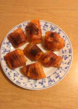 Baconbe göngyölt sütőtök