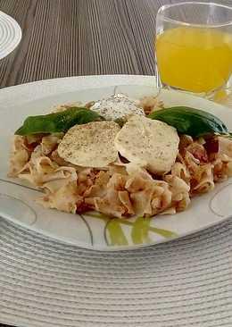 Sonkás tészta mozzarellával