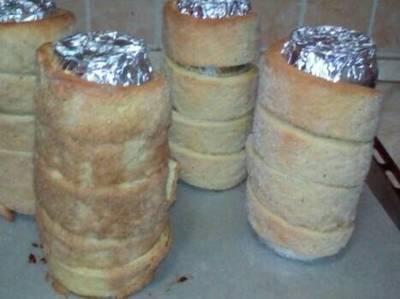 Kürtőskalács, sütőben sütve