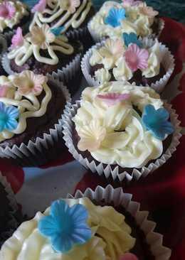 Meggyes -csokis muffin