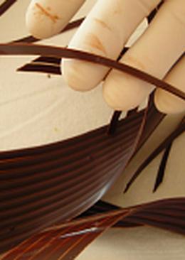 Csokoládédísz készítés - fél spirál