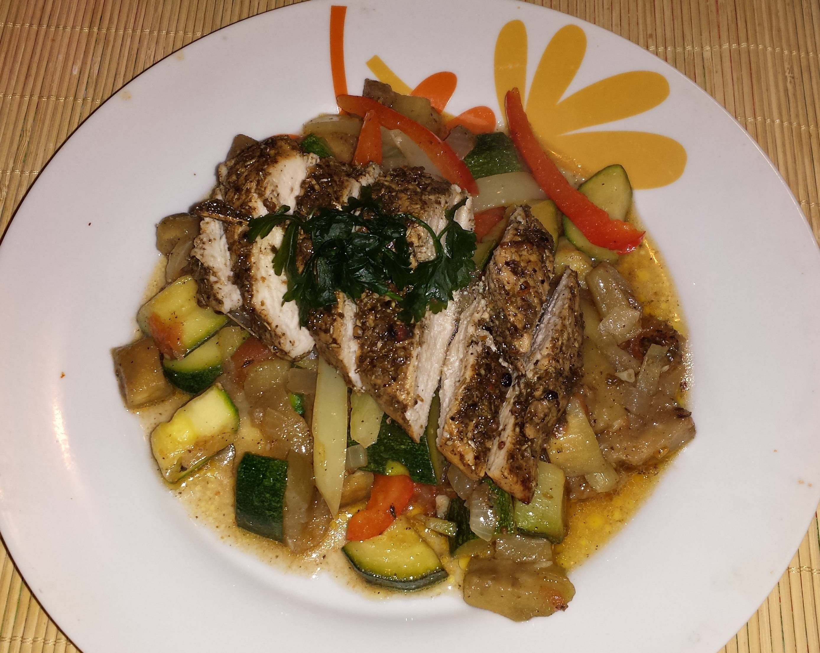 Provence-i csirke zöldségágyon recept főfotó
