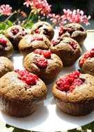 Csokis-málnás muffin