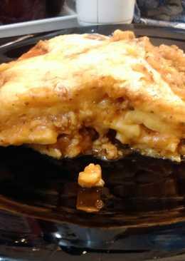 Lasagne házi készítésű tésztával