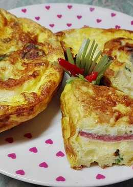 Szalámis omlett 🍳