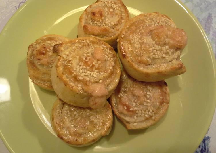 Parmezános-sonkás csiga