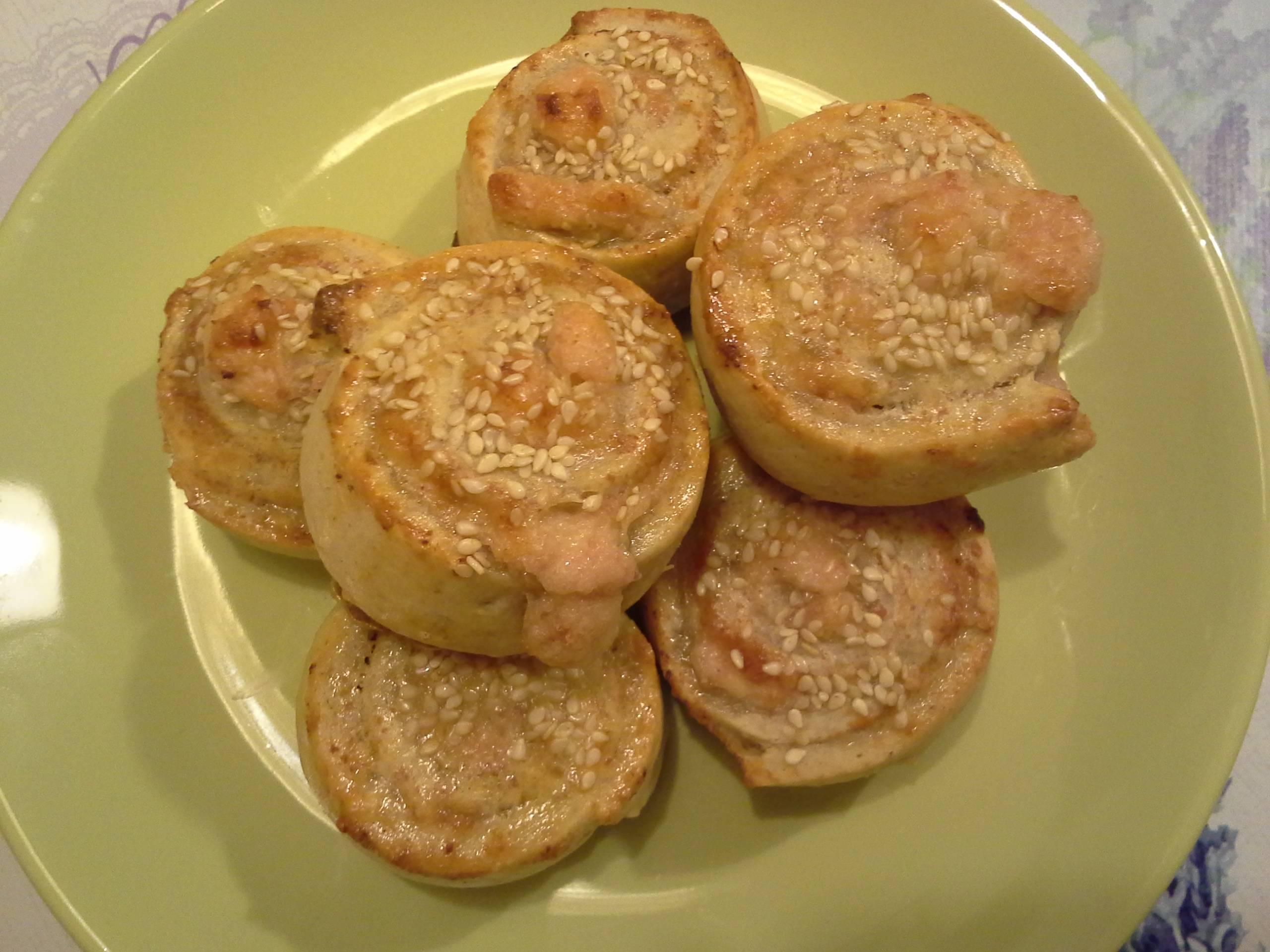 Parmezános-sonkás csiga recept főfotó