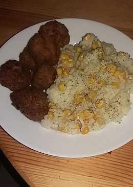 Fasírt, kukoricás rizzsel 🌽