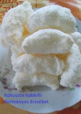 Kókuszos habkifli