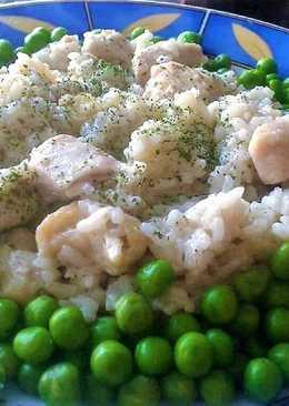Zöldborsós, rizses hús
