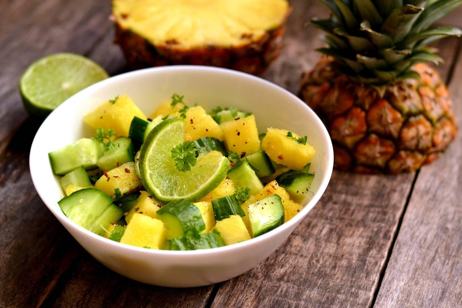 Ananászos uborkasaláta recept főfotó