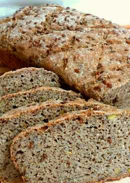 Gluténmentes lenmagos kenyér