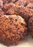 Almás-fahéjas zabkeksz (glutén-, tejmentes, diabetikus)