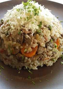 Csirkemájas rizs