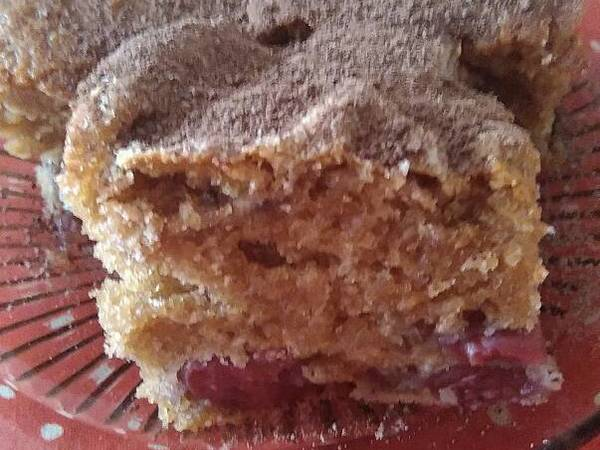 Meggyes-kávés kefír süti