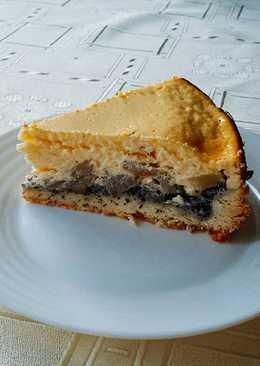 Mákos-körtés sajttorta