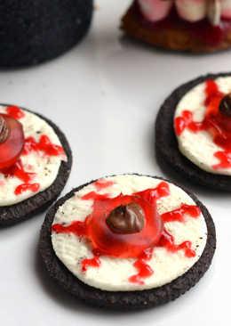 Halloween Oreo szemgolyó keksz