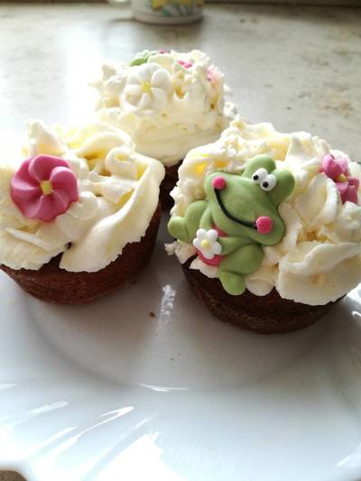 Vaníliás cupcake Mascarpone krémmel