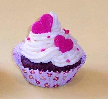 Valentin napi cupcake