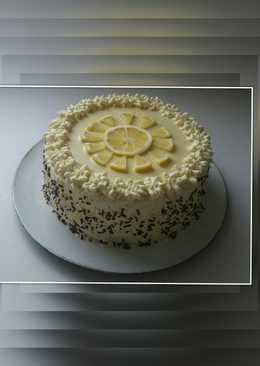 Mascarponés citrom ízű torta